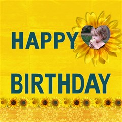 Happy Birthday 3d Card (8x4) Sunflowers By Mikki   Happy Birthday 3d Greeting Card (8x4)   1ayykj492wj6   Www Artscow Com Inside