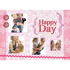 Happy Day By Joely   Hope 3d Greeting Card (7x5)   Btc75rxixur1   Www Artscow Com Front