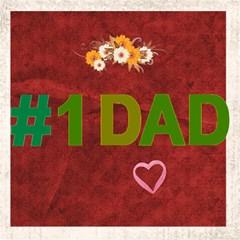 1 Dad By Joely   #1 Dad 3d Greeting Card (8x4)   E52gjd4mrwab   Www Artscow Com Inside