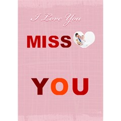 Miss You By Joely   Miss You 3d Greeting Card (7x5)   Qwy62jpxpyd7   Www Artscow Com Inside