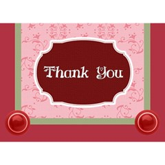 Thank You By Joely   Thank You 3d Greeting Card (7x5)   Nuh0r5utsf8r   Www Artscow Com Front