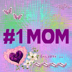 Love My #1 Mom 3d Card By Ellan   #1 Mom 3d Greeting Cards (8x4)   Gykcj839auxv   Www Artscow Com Inside