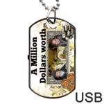 million dollar USB - Dog Tag USB Flash (One Side)