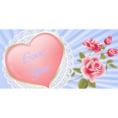 Love You Mom 3d Card By Deborah   Mom 3d Greeting Card (8x4)   Xvq5zpw9wr25   Www Artscow Com Front