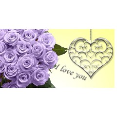 I Love You Mum 3d Card By Deborah   Mom 3d Greeting Card (8x4)   8751nxr9d8ou   Www Artscow Com Front