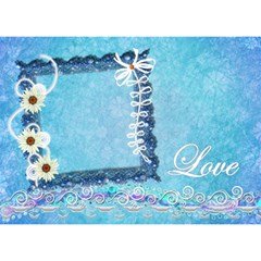 Blue Lovei Circle 3d Card By Ellan   Circle Bottom 3d Greeting Card (7x5)   Qofpcrgiqebc   Www Artscow Com Front