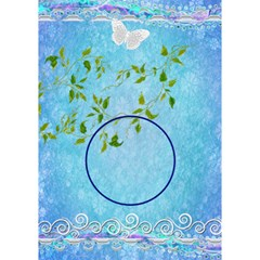 Blue Lovei Circle 3d Card By Ellan   Circle Bottom 3d Greeting Card (7x5)   Qofpcrgiqebc   Www Artscow Com Inside