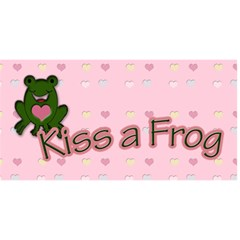 Save A Prince, Kiss A Frog By Patricia W   Happy Birthday 3d Greeting Card (8x4)   9xpznnzou3n0   Www Artscow Com Front