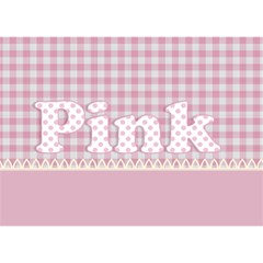Pink By Lillyskite   Ribbon 3d Greeting Card (7x5)   2ox1k4ikpwx6   Www Artscow Com Front
