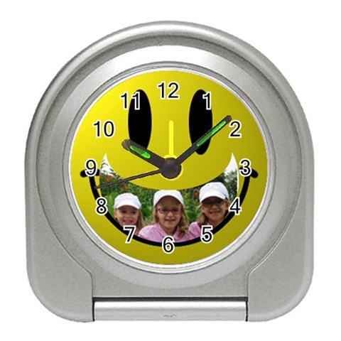 Smile Travel Clock By Malky   Travel Alarm Clock   4ld0tl0dqr03   Www Artscow Com Front