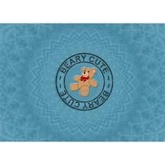 Baby Boy 3d Card By Lil    Boy 3d Greeting Card (7x5)   9de3agyxio1p   Www Artscow Com Back