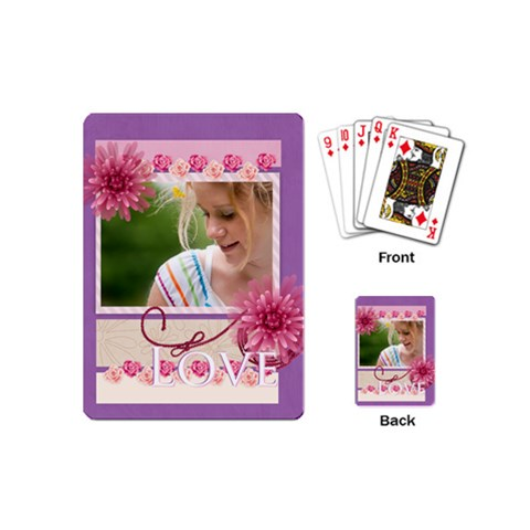 Love By Joely   Playing Cards (mini)   Ny2yigbi46qj   Www Artscow Com Back