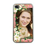 Floral Apricot Apple iPlone 4 case (Clear) - Apple iPhone 4 Case (Clear)