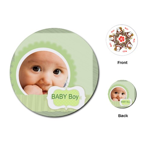 Baby Boy By Joely   Playing Cards (round)   68r8pyjecvbp   Www Artscow Com Front