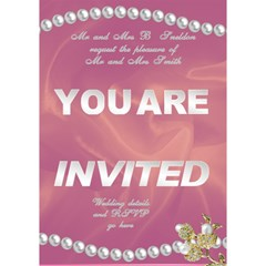 Our Wedding Invitation 3d Card (7x5) By Deborah   You Are Invited 3d Greeting Card (7x5)   Cf25rnughz06   Www Artscow Com Inside