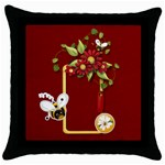 Spring and bees pillow case - Throw Pillow Case (Black)
