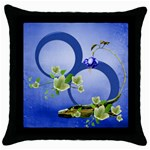 Blue romance pillow case - Throw Pillow Case (Black)