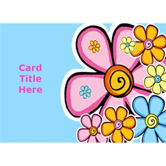 General Purpose Flower 3d Card By Deborah   Circle Bottom 3d Greeting Card (7x5)   Qw552r1kmwn8   Www Artscow Com Front