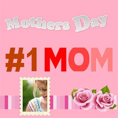 Mothers Day By Joely   #1 Mom 3d Greeting Cards (8x4)   8l3xg6tv1cao   Www Artscow Com Inside