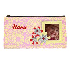 Pink & Yellow Pencil Case By Mikki   Pencil Case   Afzp8hay1a2j   Www Artscow Com Front