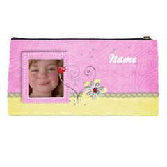 Pink & Yellow Pencil Case By Mikki   Pencil Case   Afzp8hay1a2j   Www Artscow Com Back