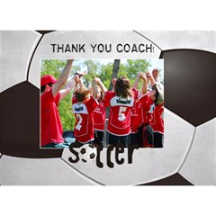 Soccer Coach Sports 3d Circle Bottom Card By Mikki   Circle Bottom 3d Greeting Card (7x5)   Tl6a503fdau2   Www Artscow Com Front