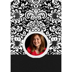 Black & White Damask  Any Theme, 3d Circle Bottom Card By Mikki   Circle Bottom 3d Greeting Card (7x5)   Y9h25p4od9tj   Www Artscow Com Inside
