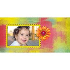 Happy Birthday 3d Card (8x4) Flowers By Mikki   Happy Birthday 3d Greeting Card (8x4)   Ou6qqv3aepf4   Www Artscow Com Back