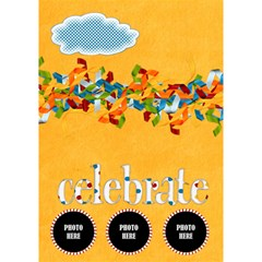 Celebrate May Circle Card 1 By Lisa Minor   Circle 3d Greeting Card (7x5)   0ahy82qqnw8q   Www Artscow Com Inside