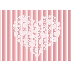 Love Of Heart By Joely   Heart Bottom 3d Greeting Card (7x5)   Qf11l1cqisyw   Www Artscow Com Back