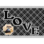 Love in Black and White 3D General Card - LOVE Bottom 3D Greeting Card (7x5)
