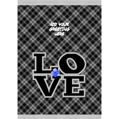 Love In Black And White 3d General Card By Deborah   Love Bottom 3d Greeting Card (7x5)   F85pd717tr5g   Www Artscow Com Inside