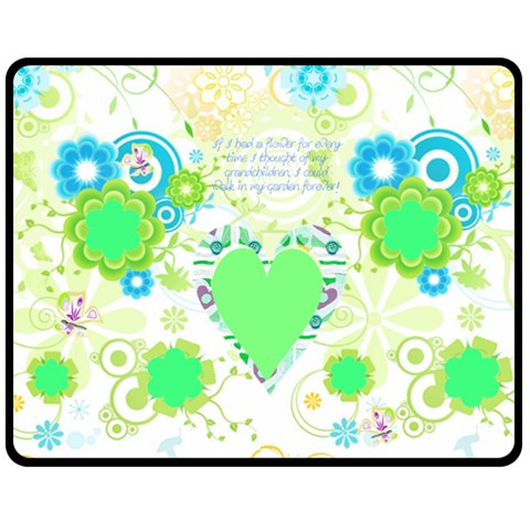 Flower Garden Med Blanket By Birkie   Fleece Blanket (medium)   3yi9mu1fz55o   Www Artscow Com 60 x50 Blanket Front