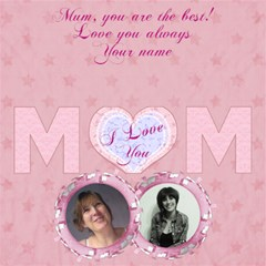 I Love You Mom Birthday,mothers Day 3d Card Pink By Claire Mcallen   Mom 3d Greeting Card (8x4)   43ez7tfjjtv2   Www Artscow Com Inside