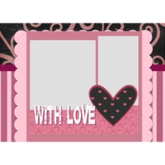 With Love By Mac Book   Circle 3d Greeting Card (7x5)   2twcgpyn91ke   Www Artscow Com Front