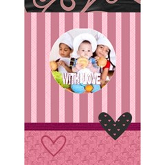 With Love By Mac Book   Circle 3d Greeting Card (7x5)   2twcgpyn91ke   Www Artscow Com Inside