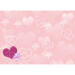 Love Equals You Heart 3d Card Template By Ellan   Heart 3d Greeting Card (7x5)   Gthle0wu70tv   Www Artscow Com Back