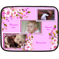 Our Girl Mini Fleece (2 Sided) Blanket By Deborah   Double Sided Fleece Blanket (mini)   Gv4l48c8zky6   Www Artscow Com 35 x27 Blanket Front