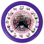 Cupcake sparkle balloon clock - Color Wall Clock