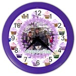 purple sparkle cupcake clock - Color Wall Clock