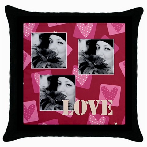 Love By May   Throw Pillow Case (black)   7hiyz8b3chim   Www Artscow Com Front
