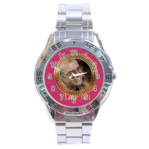I Love You By May   Stainless Steel Analogue Watch   6bsiue7jxmlx   Www Artscow Com Front