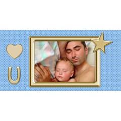 Love You Dad 3d Card By Deborah   #1 Dad 3d Greeting Card (8x4)   1kpt19qs2w6s   Www Artscow Com Front