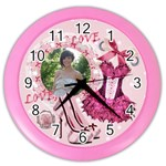 Girly pink shoes wall clock - Color Wall Clock