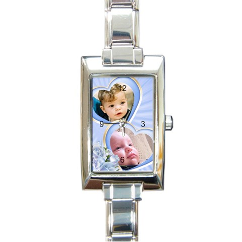 Little Treasure Charm Watch By Deborah   Rectangle Italian Charm Watch   2zkd6ohch39w   Www Artscow Com Front