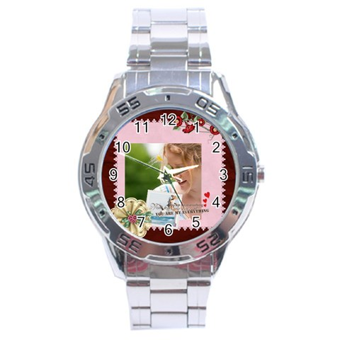 Mothers Day By Joely   Stainless Steel Analogue Watch   Vyrkf5koa9ic   Www Artscow Com Front