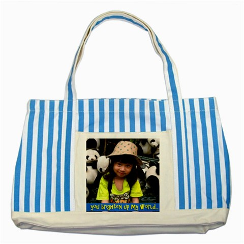 Bag By Bee   Striped Blue Tote Bag   4em2h568462b   Www Artscow Com Front
