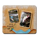 Gone Fishing Large Mousepad2