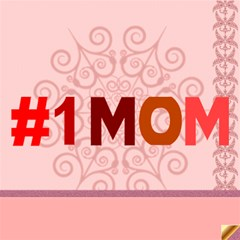 Mom By Joely   #1 Mom 3d Greeting Cards (8x4)   Bsc5vowkytqk   Www Artscow Com Inside