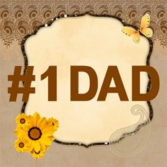 Dad By Joely   #1 Dad 3d Greeting Card (8x4)   Neluab8szppc   Www Artscow Com Inside